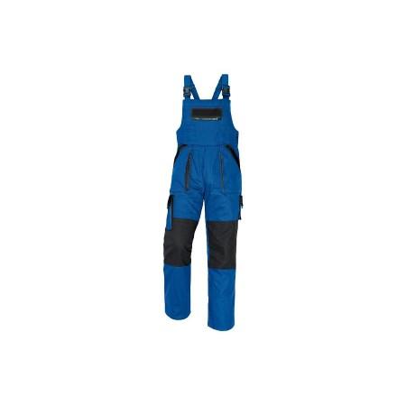 MAX nohavice s náprsenkou modro-čierne
